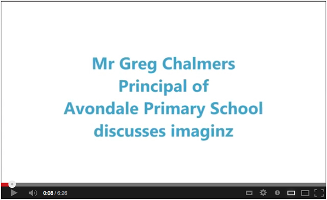 Mr. Greg Chalmers, Principal of Avondale Primary School discusses imaginz